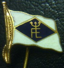 (No3790) German stickpin badge adter WW2 FE yacht club ? ENAMELLED flag