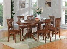 East West Furniture 7pc Vancouver dining set table + 6 chairs espresso solidwood