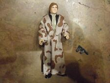 Vintage Star Wars Original Han Solo Endor trench Coat Figure Complete w weapon