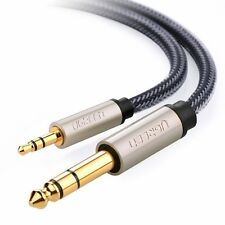 "Ugreen 50cm  3.5mm to 6.5mm guitar cable 1/4"" TRS Stereo Audio cable"
