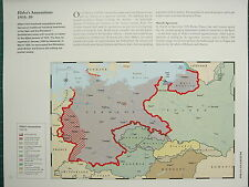 WW2 WWII MAP ~ HITLER'SANNEXATIONS 1935-39 MEMEL TERRITORY DEMILITARIZED