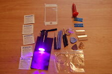 iPhone 5 5s  Front Glass Repair Kit White, loca glue, wire, more with uv torch