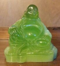Vintage Buddha Jade Color Japanese God Hotei Figurine Wony Made in Italy