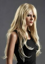 Charming Long Womens Healthy Wave Curly Blonde Wig Wigs+weaving cap