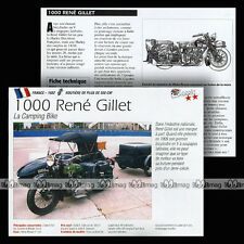 1000 RENE GILLET 1932 (Photo SIDE-CAR + REMORQUE) - Fiche Moto Classic Bike MRC