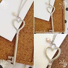 Collana Chiave Cute Key Necklace Moda Vintage Hipster Cuore Colore Argento Heart