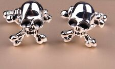Lucky Bad Boy Silver Skull Designer Men Cufflinks Cool Gift Flip Out Jewelry Box