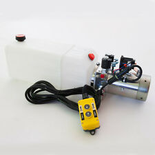 Double Acting Hydraulic Pump 12v Dump Trailer - 8 Quart Poly Reservoir