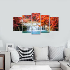 Canvas Print Picture Photo Landscape Red Woods Waterfall Home Decor Art Framed