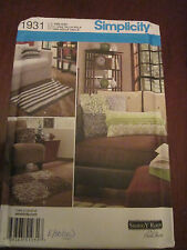 SIMPLICITY 1931 FLEECE FRINGE RUGS AND PILLOWS Sewing Pattern UNCUT!!