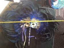 Italian Venetian Hand Made Feathered Masquerade / Mardigras Mask