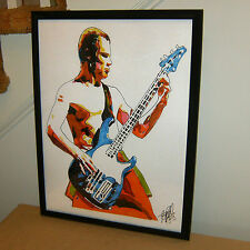 Flea, Red Hot Chili Peppers, Bass Guitar, Bassist, Funk Rock, 18x24 POSTER w/COA