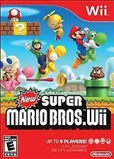 New Super Mario Bros. Wii (Nintendo Wii, 2009) with case and instructions.