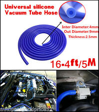 Universal 4mm Silicone Vacuum Tube Hose Silicon Tubing 16.4ft 5M 5 Meters Blue