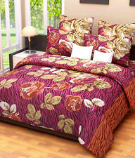 SYK Soft Cotton Double Bed sheet,Bedsheets with 2 Pillow Cover (036) ROSES