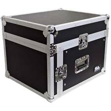Seismic Audio 6 Space Rack Case w/ Slant Mixer Top-Amp Effect PA/DJ Pro Aud