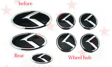 7pcs/set3D black K logo badge emblem for KIA new Forte YD K3 2014 2015 back