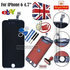 "Black LCD Display Touch Screen Digitizer Lens Full Assembly for iPhone 6 4.7"" UK"
