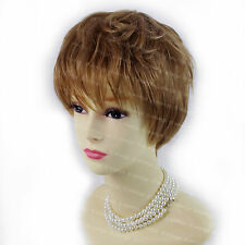 Gorgeous Gold Strawberry Blonde Short Summer Style Wavy Ladies Wigs WIWIGS UK