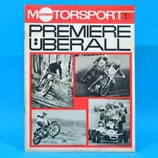DDR Illustrierter Motorsport IMS 10/1968 Ford RS Speedway Meißen Moto-Cross W