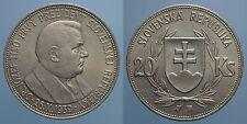 SLOVACCHIA RARO 20 KORUN 1939 SPL