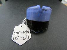 Un Azul/Marrón y Dorado Tendence anillo de vidrio dicroico. Uk Size M/N -- EE. UU. 6.5 (55).