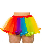 Neon Tutu Skirts Fancy Dress Accessory 80s Hen Party Rainbow Multi Coloured New