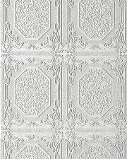 Wall ceiling wallpaper wall EDEM 101-00 decor textured vinyl white 5.33 sqm