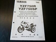 Yamaha YZF 750 R SP YZF750R YZF750SP 1993 Assembly Manual Montageanleitung
