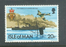Isle of Man-Spitfire-World war II-Dunkirk-- Ships-Military-mnh-Aviation