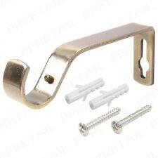 Heavy Duty Metal Curtain Pole Wall Brackets & Fixings Rod Holder 19mm or 28mm