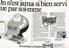 PUBLICITE ADVERTISING 064  1982  IKEA   meubles SUEDOIS 3  ( 2 pages)