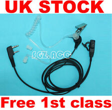 UK Stock SIA Security Earpiece Headset Mic for Kenwood Baofeng Radio 2 Pin