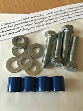 12mm Gloss Blue Bonnet Raisers/Lifters MK6 Ford Fiesta 2.0 Zetec ST150 ST ZS