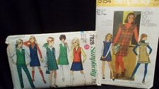 2 Retro How To Sew Jumpers, Vest, Pants, Skirt Patterns Size Jr Teen 11/12