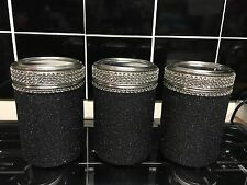 Blinged/ Customised Glittered Tea Coffee Sugar Pots Cannisters. Any Colour Avail