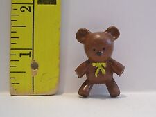 VINTAGE FASHION DOLL 1/6 MINIATURE BABY RUBBER BROWN BEAR ACCESSORY