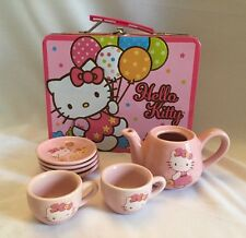 Pink Hello Kitty Balloon Lunch Box & Pink Tea Set