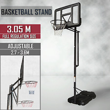 Portable Adjustable Height Basketball Ring System Stand Slam Dunk Spring Loaded