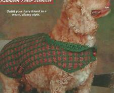 Crochet Pattern ~ Checked Doggy Weskit Dog Coat, Jacket, Sweater ~ Instructions