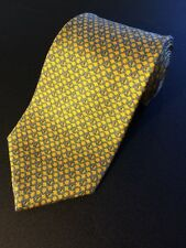 $79 Brooks Brothers Yellow  Geometric Tie 100% Silk Made in the USA