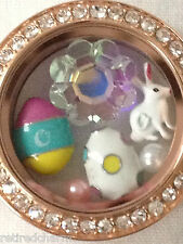 ❤️AUTHENTIC ORIGAMI OWL FOR EASTER ~LOCKET CHARMS & BRACELET BUNNY EGGS FLOWER❤️