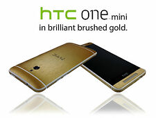 Brushed Metal Skin For HTC ONE MINI M4 Wrap Cover Sticker Protector Case