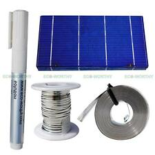 20pcs 3x6 Solar Cells Kit w/ Tab Bus Wire,Flux Pen Charger for DIY Solar Panel