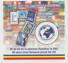 ROMANIA 2015,UN,ONU,60 years,MS,MNH,United Nations