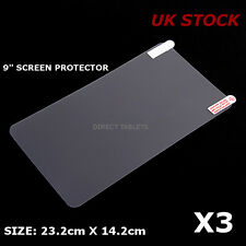 3x 9 inch Screen Protector Allwinner Rockchip Mediatech Android Tablet - UK