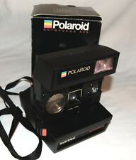 Vintage POLAROID AUTOFOCUS SUN 660 CAMERA With Strap & Box Worked Last Time Out!