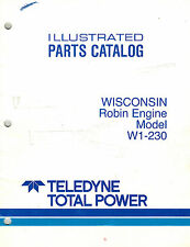 WISCONSIN/ROBIN  W1-230  ENGINE PARTS  MANUAL NEW