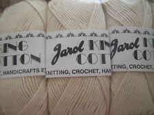 Natural Colour Craft Cotton By Jarol 5 x 100gm balls  [ 500g  ]