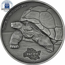 Tokelau 5 Dollars Silber 2013 SIlbermünze Antique Finish Turtle Silver Ounce